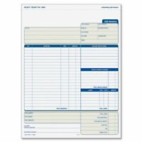 "Tops Three Part Carbonless Job Invoice Forms - 3 Part - Carbonless - 11"" X 8.50"""