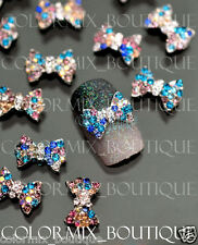10pcs 3D Nail Art Decoration Colorful Bow Alloy Jewelry Glitter Rhinestone#CA063