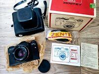 NEW! ZENIT ET 35 mm SLR film camera MC HELIOS 44M-4 58 mm f 2 Lens vintage USSR
