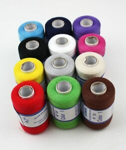 Lot 12 Spools Sewing Thread 100% Polyester Assorted Colors Quality All Purpose