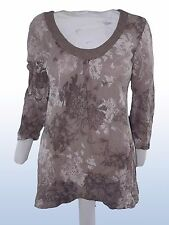 blusa donna grigio man 3/4 PRONTO MODA MADE ITALY tg L LARGE