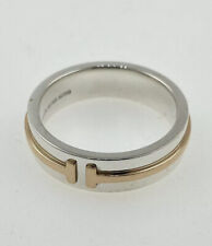 Tiffany & Co T Two Ring Sterling Silver And 18k Rose Gold