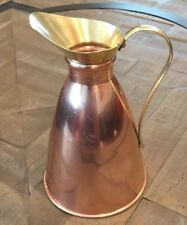 Antique copper and brass pitcher, winward Birmingham copper and brass pitcher,