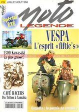 MOTO LEGENDE  38 Essai KAWASAKI Z1300 YAMAHA SR 500 VESPA 150 TRITON NORTON 16H