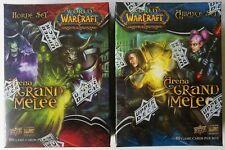 World of Warcraft TCG Arena Grand Melee Horde Set + Alliance Set Factory Sealed