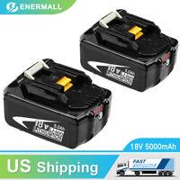 2PCS BL1850B Replace for Makita 18V Lithium Battery 5000mAh BL1850 BL1830 BL1860