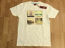MENS MERC LONDON RETRO MOD T-SHIRT CREAM SIZE S