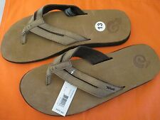 454a1b445 NEW  TEVA MENS FLIP FLOPS Sandals 12.5 13 Tobacco Brown Eddy Suede