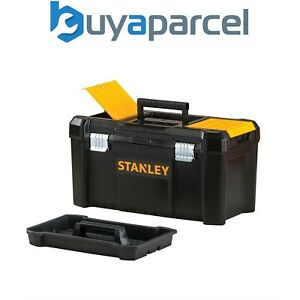 Stanley 50cm Toolbox 19 Inch Tool Box with Metal Latches Tote Tray Lid Organiser