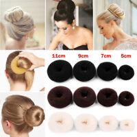 Women Girls Sponge Hair Bun Maker Ring Donut Shape Hairband Styler Tool 5-11cm