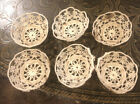 Vintage+Handmade+Crocheted+Doilies+Baskets+Egg+Holders+-+Lot+of+6%2C+Some+Stains