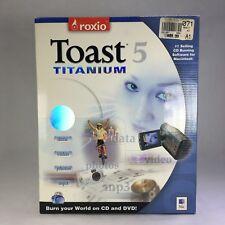 ROXIO Toast 5 Titanium Apple Mac Install Disc CD Software Box Manual Cable