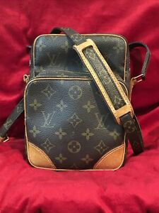 Vintage Louis Vuitton Monogram Amazone Leather Crossbody Shoulder Bag  TH0047