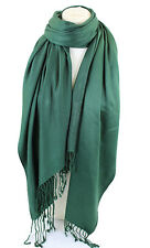 Bottle Green High Quality Pashmina Scarf Shawl Stole Wrap Hijab 100% Viscose