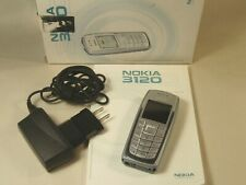 CLEAN! Working Nokia Classic 3120 - Silver Cellular Phone