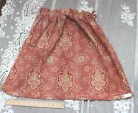 "Antique French Hand Blocked & Resist Dyed Red Cotton Fabric c1820-1840~22""LX27""W"