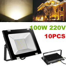 10X 100W LED Flood Light Outdoor Garden Landscape Yard Wall Spot Ceiling Lamp