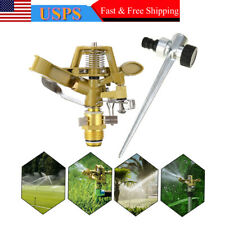 Adjustable 360Degree Water Sprinkler Water Impulse Spike Plant Grass Garden Lawn