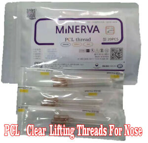 20pcs PCL Clear Lifting Thread Nose Columella Back Straightening Suture L Needle