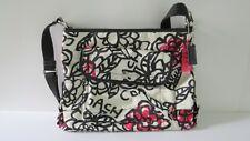 COACH Womens Purse Handbag Poppy Daisy Floral Graffiti Black Red Crossbody Bag
