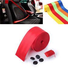 1x 360cm Racing Car Red Retractable Front Safety Seat Lap Belt With 3 Bolt Point