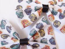 Harry Potter Inspired Handmade Hair Bow - Hogwarts House Crests - Gryffindor