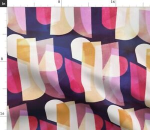 Color Block Abstract Retro Mod Modern Minimalism Spoonflower Fabric by the Yard