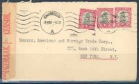 SOUTH AFRICA  JOHANNESBURG JUNE 24, 1941 CENSORED COVER TO NEW YORK