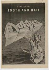 Dokken UK LP advert 1984