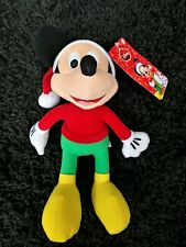 "Disney Christmas Mickey Mouse Just play plush stuffed toy Christmas 8"" NEW"