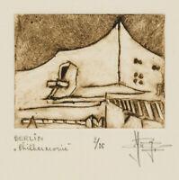 Y. ROYON (*1938), Blick a.d. Berliner Philharmonie, 20. Jhd., 2/25, Rad.