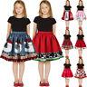 Teen Kids Girls 3D Print Christmas Princess Fashion Skirt Clothes Outfits AU