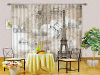 Tower Mountain Beyond 3D Curtains Blockout Photo Printing Curtains Drape Fabric
