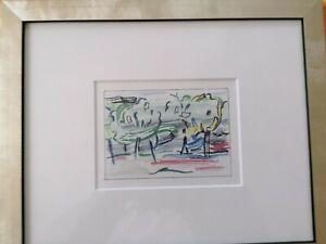"""Roy Lichtenstein  """"ROAD BEFORE THE FOREST""""  Farblithografie"""