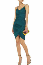 NWT $375 Halston Heritage Jersey Ruched Cami Dress Emerald Green XS