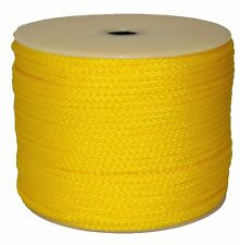 "T.W . Evans Cordage 1/4"" X 1000' Yellow Hollow Braid Polypro Rope"
