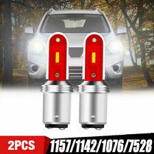 2X 1157 BA15D 1142 LED Turn Signal Brake Reverse Parking Light Bulb White CANBUS