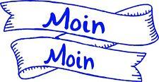 Autoaufkleber- Moin Moin mit Banner 15 cm x 8 cm div. wählbare Farben Art. 1006