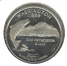2007-S San Francisco Clad Proof Washington State 25C Quarter Coin!