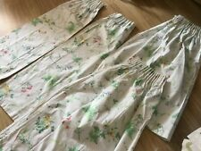 2 pairs vintage Sandersons 100% cotton curtains, small.