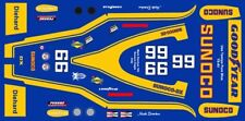 #6 Mark Donohue Sunoco 1973 INDY 1/43rd Scale Slot Car Decals