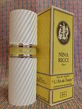 Vintage 1980s L Air du Temps 1.7 oz 50 ml Eau de Toilette Nina Ricci OLD FORMULA