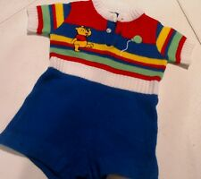 Lot Of Baby Boy 0-6 Mo Vintage Winnie The Poo Romper & Sweater