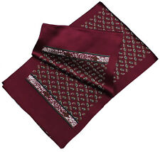Red Gentlemanly Fashion Men's 100% silk Double side long scarf Elegant cravat