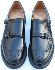 New & Boxed Church's 'Nettleton' Rubber Soled Black Monk Shoes 9 UK 43 EU