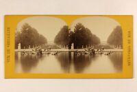 Francia Jardins Del Château Da Versailles c1868 Foto Stereo Vintage Albumina