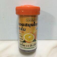 Thai Herbal Lozenge Lime Orange Flavor Pastille Cough Drop Sore Throat 100 pills