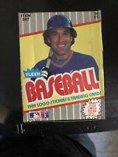 1989 Fleer Baseball Wax Box - 36 Packs - Possible Ken Griffey Jr. RC