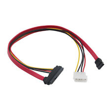 SAS 22P(7pin+15Pin) to 4Pin Female to Male SATA IDE Data Power Extension Cable