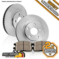 Front Brake Disc Rotors And Ceramic Pads Lexus ES300H ES350 Toyota Avalon Camry